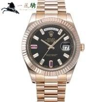 Rolex Day-Date II Oro rosa 41mm Negro