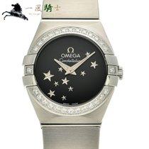 Omega Constellation Quartz Acero 24mm Negro