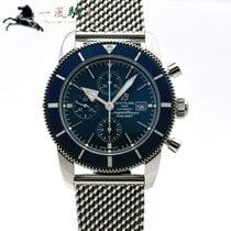 Breitling Superocean Héritage II Chronographe gebraucht 46mm Blau Stahl