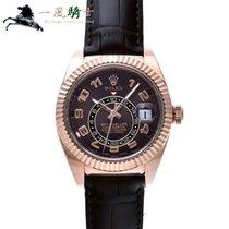 Rolex Sky-Dweller Aur roz 42mm Maron