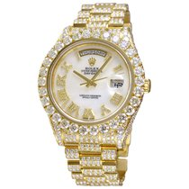 Rolex Day-Date II Yellow gold 41mm Mother of pearl Roman numerals United States of America, New York, NEW YORK CITY
