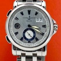 Ulysse Nardin Dual Time Stahl 42mm Silber