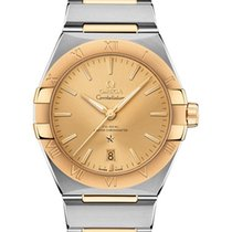 Omega Constellation Goud/Staal 39mm Champagne