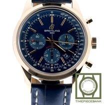 Breitling Transocean Chronograph Rotgold 43mm Blau