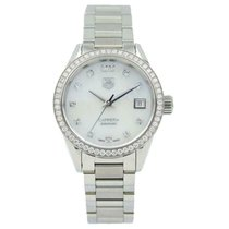 TAG Heuer Carrera Lady Staal 28mm Wit