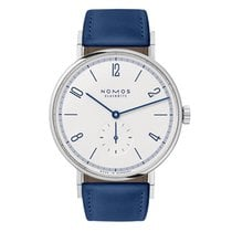 NOMOS Tangente 38 Steel 38mm White