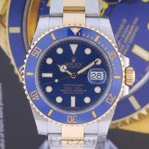 Rolex Céramique Remontage automatique Bleu Sans chiffres 40mm occasion Submariner Date