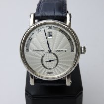 Chronoswiss Delphis White gold 38mm Silver (solid) Arabic numerals