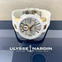 Ulysse Nardin Yellow gold Automatic Mother of pearl Roman numerals 40mm new Executive Dual Time Lady