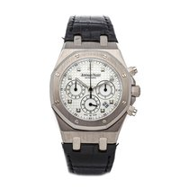 Audemars Piguet Or blanc Remontage automatique Blanc 39mm occasion Royal Oak Chronograph