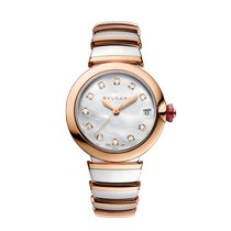 Bulgari Lucea Gold/Steel 33mm Mother of pearl United States of America, New York, New York