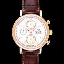 IWC Red gold Automatic Silver 42.00mm new Portofino Chronograph