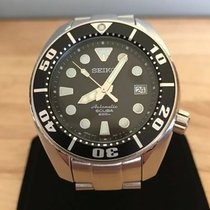 Seiko Prospex Steel 44mm Black No numerals