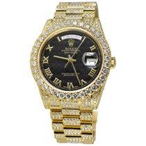 Rolex Day-Date 36 Желтое золото 36mm Черный Римские