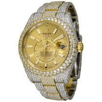 Rolex Sky-Dweller Gold/Steel 42mm Champagne No numerals United States of America, New York, NEW YORK CITY
