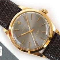 Rolex Oyster Perpetual 34 Žluté zlato 34mm Šedá Bez čísel