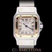 Cartier Santos Galbée Acero y oro 24mm Blanco Romanos España, Barcelona