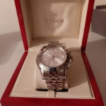 Tudor Chronautic Steel 41mm Silver No numerals