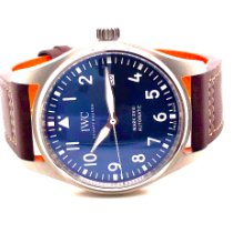 IWC Pilot Mark Steel 40mm Blue Arabic numerals
