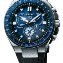 Seiko Astron GPS Solar Chronograph Stahl Blau