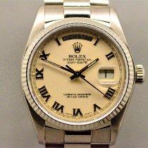 Rolex Day-Date 36 Witgoud 36mm Wit Romeins Nederland, Maastricht