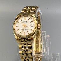 Rolex Oyster Perpetual Lady Date Zuto zlato 26mm Bjel Bez brojeva