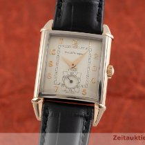 Girard Perregaux Red gold Manual winding Silver 28.5mm pre-owned Vintage 1945