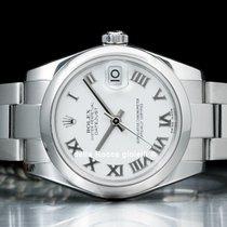 Rolex Lady-Datejust Stahl 31mm Weiß Römisch