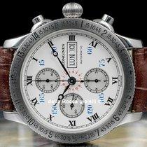 Longines Lindbergh Hour Angle Сталь 42mm Белый Римские