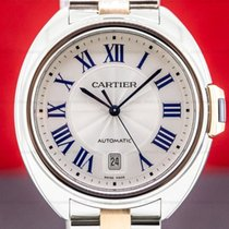 Cartier Clé de Cartier Or/Acier 40mm Argent Romain