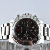 Tudor Sport Chronograph Steel 41mm Black No numerals