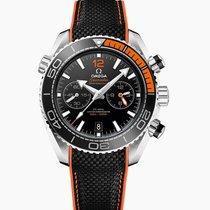 Omega Seamaster Planet Ocean Chronograph Stål 45.5mm Svart Ingen tall