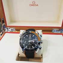 Omega Seamaster Planet Ocean Chronograph Steel 45.5mm Black No numerals