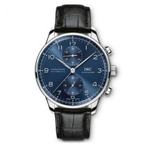 IWC Portuguese Chronograph Steel 41mm Blue Arabic numerals United States of America, Iowa, Des Moines