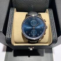 IWC Portuguese Chronograph Steel 41mm Blue Arabic numerals United States of America, Iowa, Des Moines