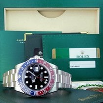 Rolex White gold Black 40mm pre-owned GMT-Master II
