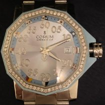 Corum Admiral's Cup Competition 40 Stal 40mm Srebrny Arabskie