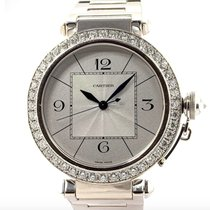 Cartier Pasha White gold 42mm Silver Arabic numerals United States of America, New York, New York