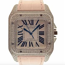 Cartier Santos 100 White gold 33mm Silver Roman numerals United States of America, New York, New York