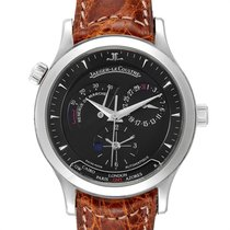 Jaeger-LeCoultre Master Geographic pre-owned 39mm Black Date Leather