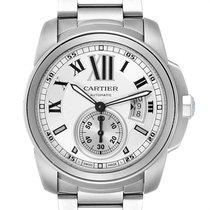Cartier Calibre de Cartier Stahl 42mm Silber Römisch