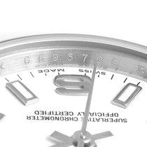 Rolex Oyster Perpetual 26 Stahl 24mm Weiß Arabisch