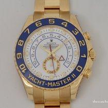 Rolex Yacht-Master II Geelgoud 44mm Blauw