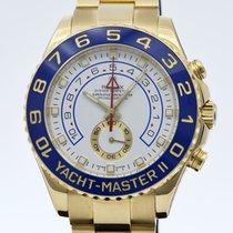 Rolex Yacht-Master II Or jaune 44mm Bleu