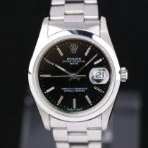 Rolex Oyster Perpetual Date Stahl 34mm Schwarz Keine Ziffern Deutschland, Rosenheim