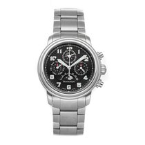 Blancpain Léman Fly-Back pre-owned 38mm Black Moon phase Flyback Date Month Perpetual calendar Fold clasp