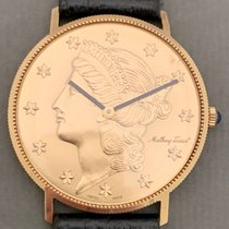 Mathey-Tissot Geelgoud 35mm Handopwind eagle corum dollar coin tweedehands Nederland, Amsterdam