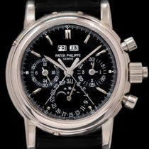 Patek Philippe Perpetual Calendar Chronograph White gold 37mm Black No numerals United States of America, New York, New York