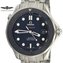 Omega Seamaster Diver 300 M Acier 41mm Bleu Sans chiffres