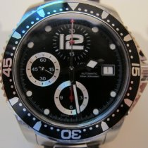 Longines HydroConquest Acier 41mm Noir Arabes France, ploemeur